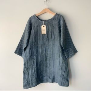 Boy + girl Linen Dress